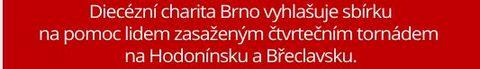 Charita vyhlašuje pomoc lidem na Hodonínsku a Břeclavsku